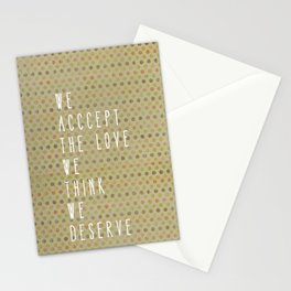 perks of being a wallflower Stationery Cards