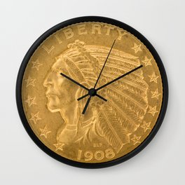 US Indian Head Dollar Wall Clock