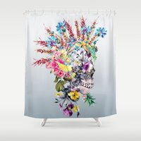 punk Shower Curtains featuring  Punk Portrait by RIZA PEKER