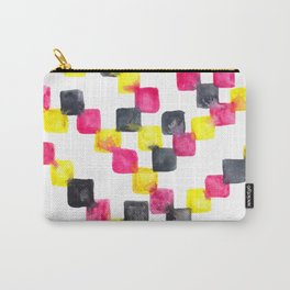 Pink Yellow Grey Carry-All Pouch