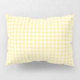 Summery Lemon Yellow Gingham Pillow Sham