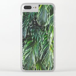 Tropical Foliage Clear iPhone Case