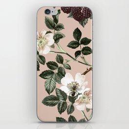 Bee Blackberry Bramble Coral Pink iPhone Skin