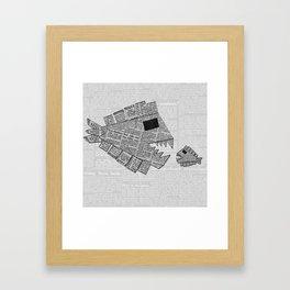 vs Framed Art Print