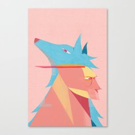 Man and Wolf Canvas Print
