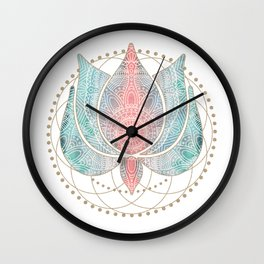 Yoga Lotus Wall Clock