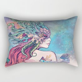The Last Mermaid Rectangular Pillow
