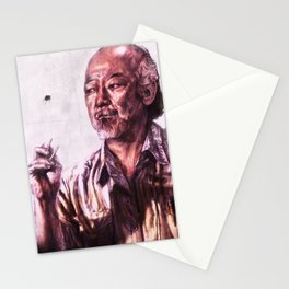 Mr. Miyagi from Karate Kid Stationery Cards