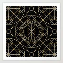 Web of Wyrd  -The Matrix of Fate Art Print