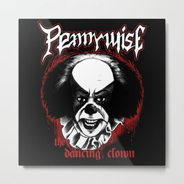 pennywise the dancing clown horror movie Metal Print