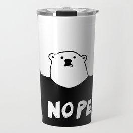 NOPE BEAR Travel Mug