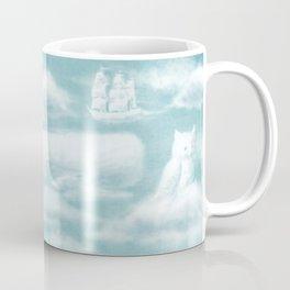 Ocean Meets Sky Endpapers (back) Coffee Mug