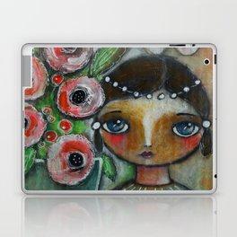 Eastern peony girl Laptop & iPad Skin