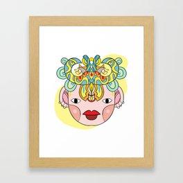 Let's wear a mask Framed Art Print