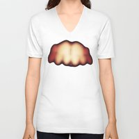 teeth V-neck T-shirts featuring Teeth by BLACK-TOKYO