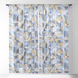 Food Triangle Sheer Curtain