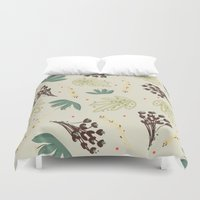 leaf Duvet Covers featuring leaf by Ceren Aksu Dikenci