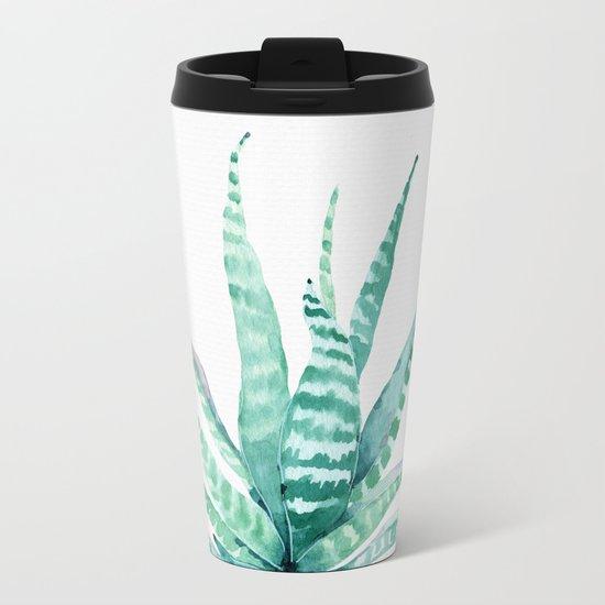 Succulent Life Metal Travel Mug