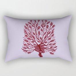 Skeleton Heart Hawthorn Tree Rectangular Pillow