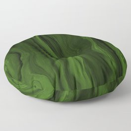 Marblesque Green and Black - Abstract Marble Art Series by Jennifer Berdy Floor Pillow