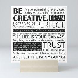 The  Creative Living Manifesto Mini Art Print