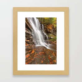 Autumn Ganoga Falls Framed Art Print