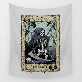 Death Card Wall Tapestry