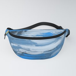 Blue & White Abstract Fanny Pack