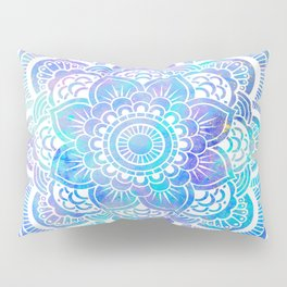 Mandala Pink Lavender Aqua Galaxy Space Pillow Sham
