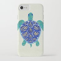 hearts iPhone & iPod Cases featuring Sea Turtle by Cat Coquillette