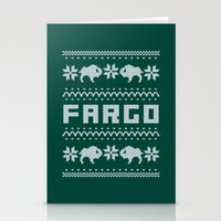 fargo Stationery Cards featuring Fargo Sweater by Mandrie