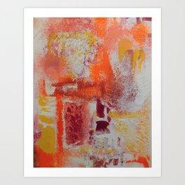 PEACH RASBERRY LEMON AND CREAM Art Print
