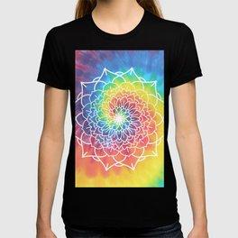 RAINBOW TIE DYE MANDALA T-shirt
