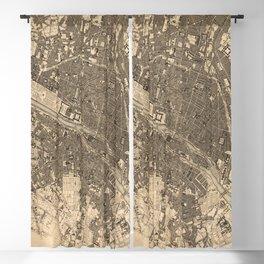 Paris Vintage Maps And Drawings Blackout Curtain