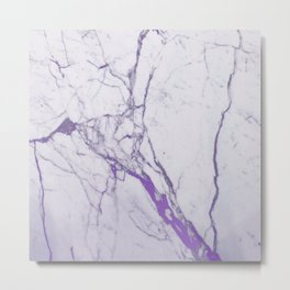 MARBLE PURPLE Metal Print