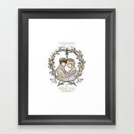 "White background illustration for video of song by Wilder Adkins, ""When I'm Married"" Framed Art Print"