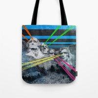 rushmore Tote Bags featuring Mt Rushmore, Yo by Dan Howard