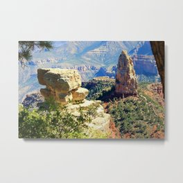 North Rim of the Grand Canyon by Reay of Light Metal Print