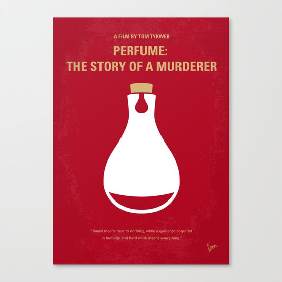 No194 My Perfume The Story of a Murderer minimal movie poster Canvas Print