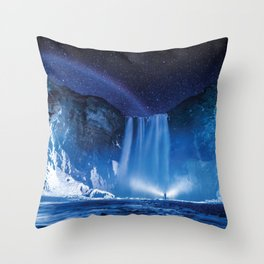 Magical Waterfall Throw Pillow
