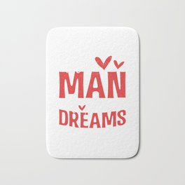 The Man Of Your Dreams Valentines Day Hearts Bath Mat