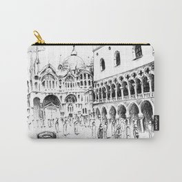 Sketch of San Marco Square in Venice Carry-All Pouch