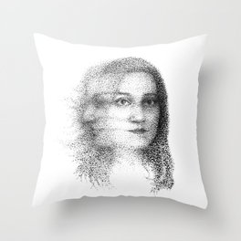 Slow Shutter, Long Exposure Portrait of a Woman in Motion Throw Pillow