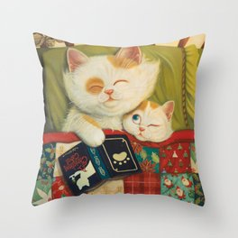 The cozy moment Throw Pillow