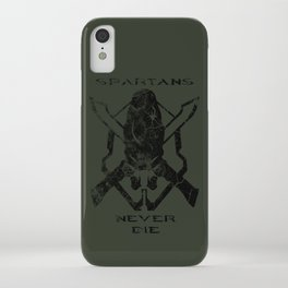 Spartans Never Die  |  Halo iPhone Case