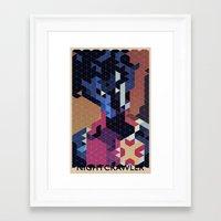 nightcrawler Framed Art Prints featuring Geometric Nightcrawler by Head Glitch