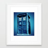 tardis Framed Art Prints featuring TARDIS by Hands in the Sky