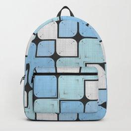 Blue Geometrical Pattern Backpack