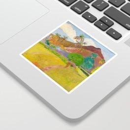 Tahitian Landscape by Paul Gauguin Sticker