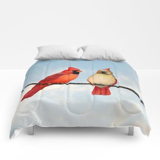 cardinal couple Comforters